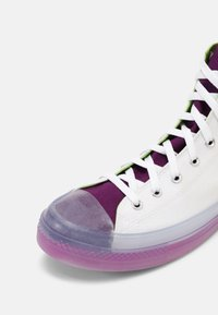 Converse - CHUCK TAYLOR ALL STAR CX COLORBLOCKED UNISEX - Vysoké tenisky - white/bold wasabi/nightfall violet - 6
