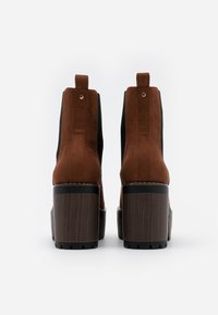 Even&Odd Wide Fit - High heeled ankle boots - cognac - 3