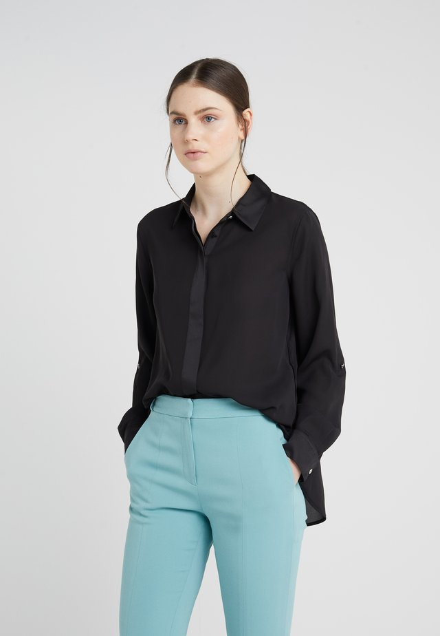 FOUNDATION ROLL TAB THRU HIDDEN PLACKET - Overhemdblouse - black