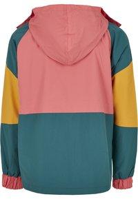 Starter - MULTICOLORED LOGO - Summer jacket - green/yellow/pink - 7
