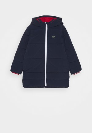 Winterjacke - navy blue/red