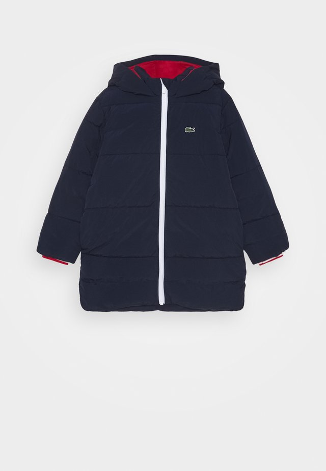 Winter jacket - navy blue/red