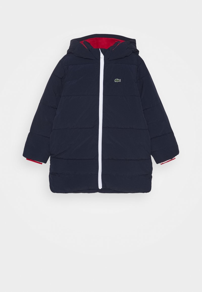 Lacoste - Winter jacket - navy blue/red