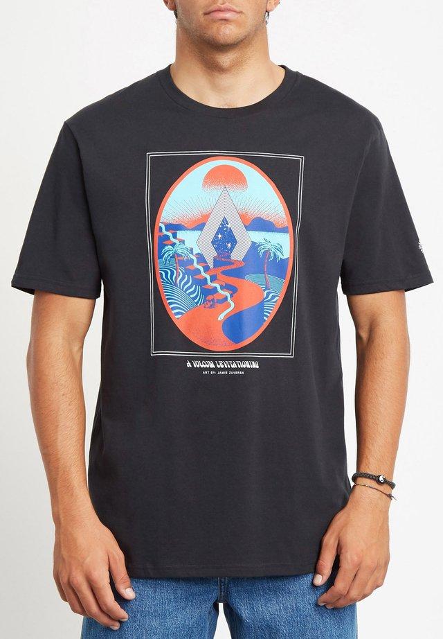 ZUVERZA - T-shirt imprimé - black