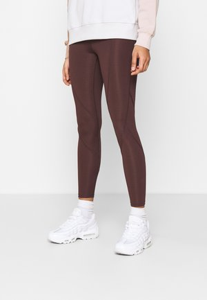 ESSENTIAL - Leggings - Trousers - mahogany/gold