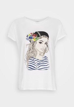 JDYANASTASIA LIFE PRINT - Print T-shirt - cloud dancer