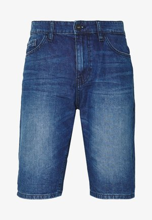 JEANSHOSEN JOSH REGULAR SLIM JEANS-SHORTS IN VINTAGE-WASHUNG - Szorty jeansowe - mid stone wash denim