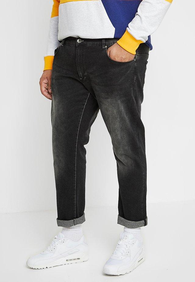 STRETCH WASHED - Slim fit -farkut - black
