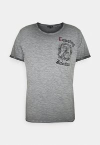 JUSTICE ROUND - Print T-shirt - anthra