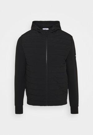 MIX MEDIA HOOD JACKET - Light jacket - black
