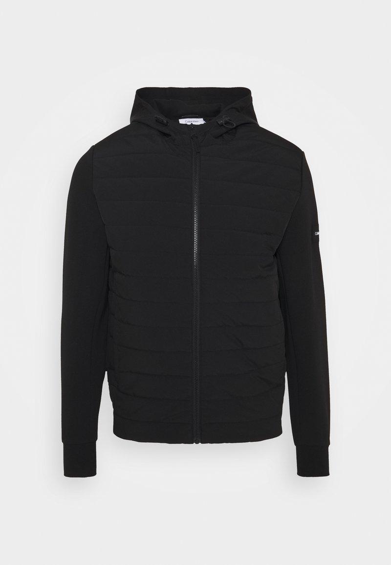 Calvin Klein - MIX MEDIA HOOD JACKET - Light jacket - black