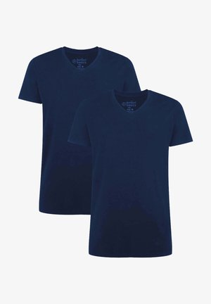 2 PACK - T-shirt - bas - navy