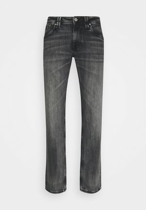 KINGSTON ZIP - Jeansy Straight Leg - black denim
