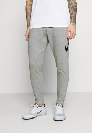 TAPER - Tracksuit bottoms - dark grey heather/black