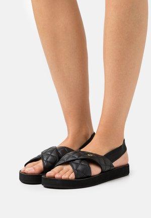 FLATVILLE - Sandals - black