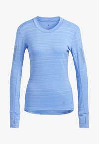 adidas Performance - RISE UP N RUN LONG-SLEEVE TOP - Funktionströja - blue - 7
