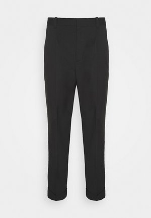 SINGLE PLEAT - Trousers - black
