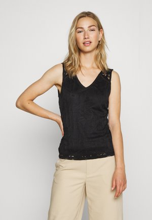 VISTASIA V NECK - Bluse - black