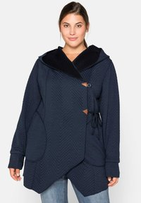 Sheego - Zip-up hoodie - nachtblau - 0