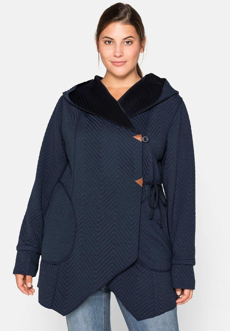 Sheego - Zip-up hoodie - nachtblau