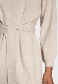 mine to five TOM TAILOR - DRESS BELTED - Jumper dress - powder beige melange - 4