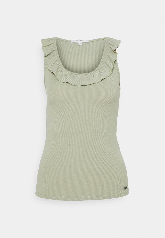 Top - palm green