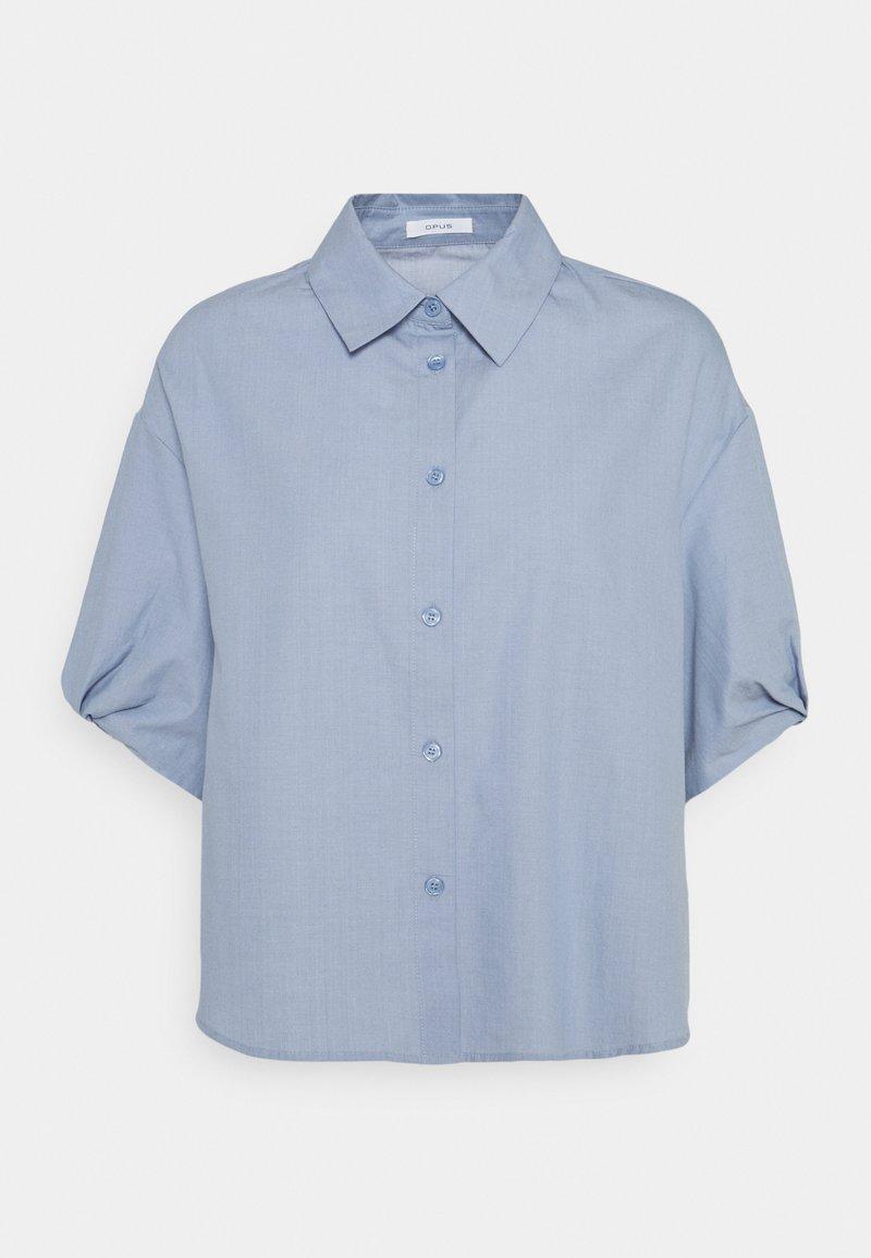 Opus - FANSK - Button-down blouse - blue mood