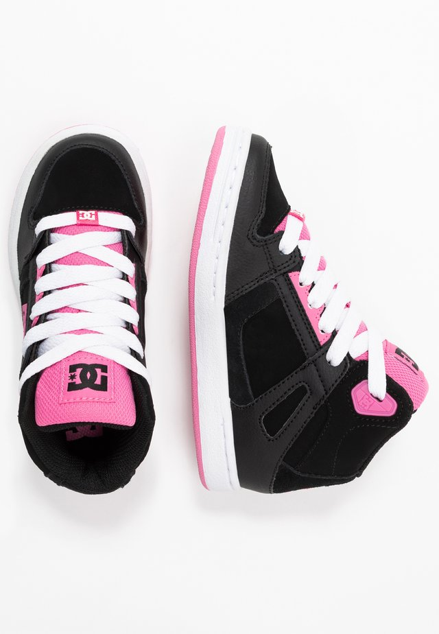PURE - Sneakers hoog - black/pink