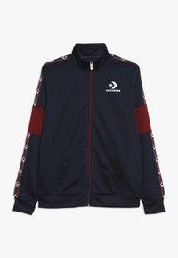 Converse - STAR CHEVRON COLORBLOCK TRACK JACKET - Training jacket - obsidian - 0