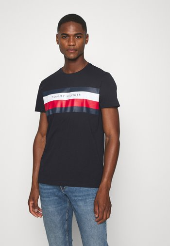 STRIPE TEE - Print T-shirt - blue