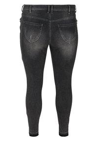Zizzi - MIT SCHLITZ - Jeans Skinny Fit - grey - 4