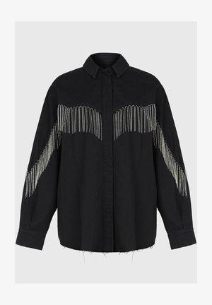 SANDRA JAINE  - Button-down blouse - black