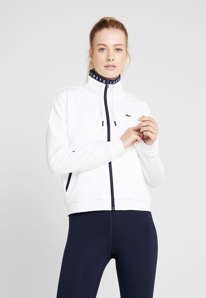 Lacoste Sport - TENNIS JACKET - Veste de survêtement - white/navy blue
