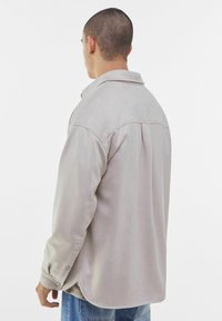 Bershka - Faux leather jacket - stone - 2