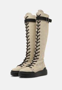 Felmini - JOBB - Šněrovací vysoké boty - morat/pacifico off white/black - 2