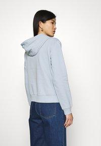 Trendyol - veste en sweat zippée - celestial blue - 3