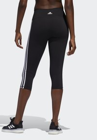 adidas Performance - BELIEVE THIS 3 STRIPES LEGGINGS - 3/4 sportovní kalhoty - black - 1