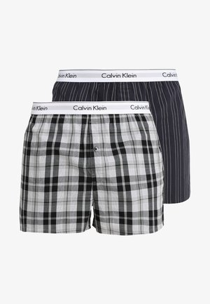 SLIM FIT 2 PACK - Boxer shorts - black