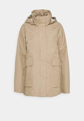 Hardshell jacket - beige