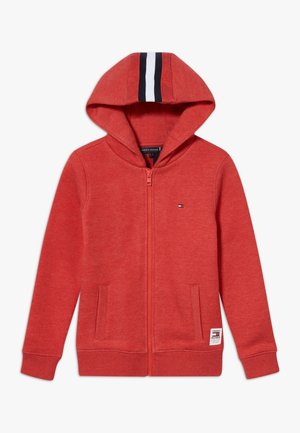 BACK INSERT HOODED FULL ZIP - Mikina na zip - red