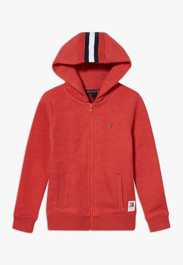 BACK INSERT HOODED FULL ZIP - veste en sweat zippée - red