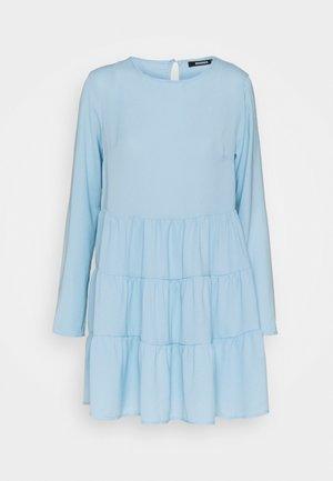 TIERED SMOCK DRESS - Day dress - powder blue