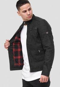 INDICODE JEANS - MANUEL - Leather jacket - black - 0
