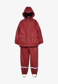 mikk-line - RAIN SET 2-IN-1 - Waterproof jacket - burnt russet - 4