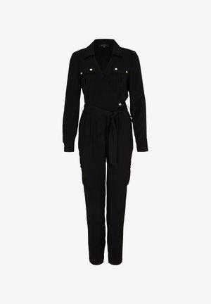MIT WICKELAUSSCHNITT - Jumpsuit - black