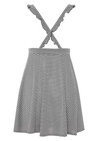 Yours Clothing - GINGHAM  - A-line skirt - black - 6