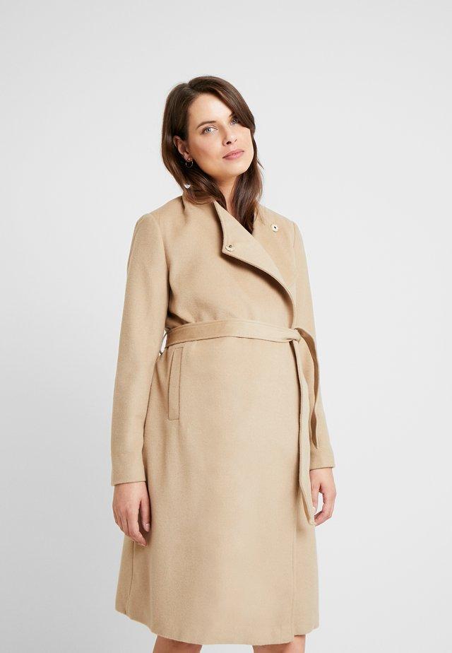 BEVERLY WRAP COAT - Płaszcz wełniany /Płaszcz klasyczny - camel