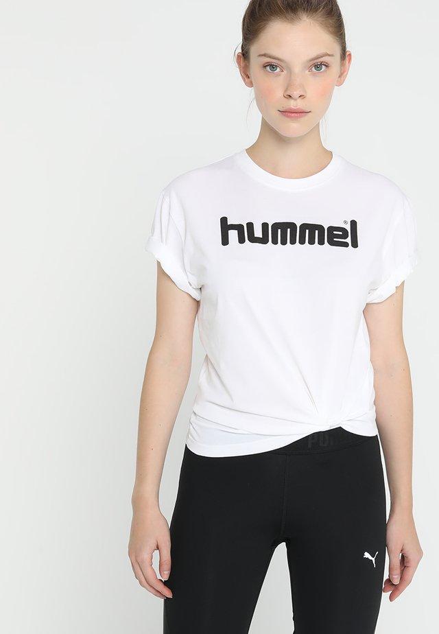 GO LOGO WOMAN - T-shirt imprimé - white