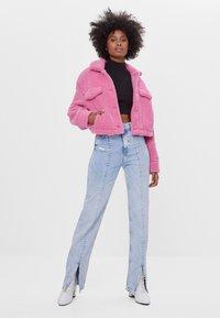 Bershka - Fleece jacket - pink - 1