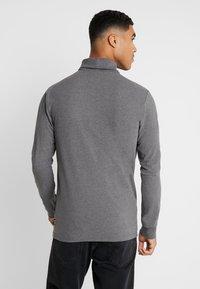 Only & Sons - ONSESSAY ROLLNECK TEE - Long sleeved top - dark grey melange - 2